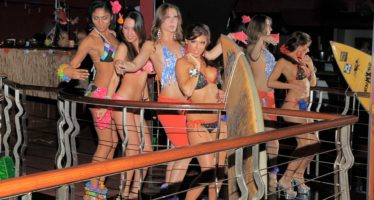 Luau party at Rick's Cabaret NYC